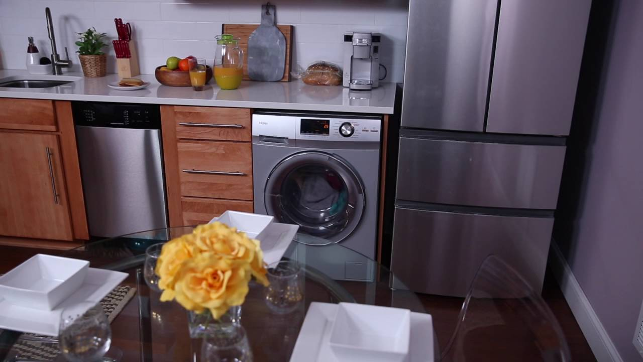 haier stackable washer and dryer. features overview - haier washer/dryer combo hlc1700axs \u0026 hlc1700axw youtube stackable washer and dryer