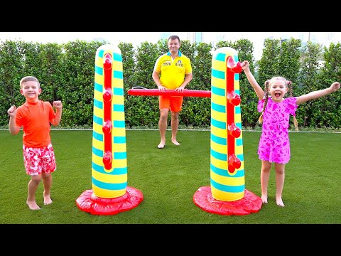 Diana and family games with kids for outside