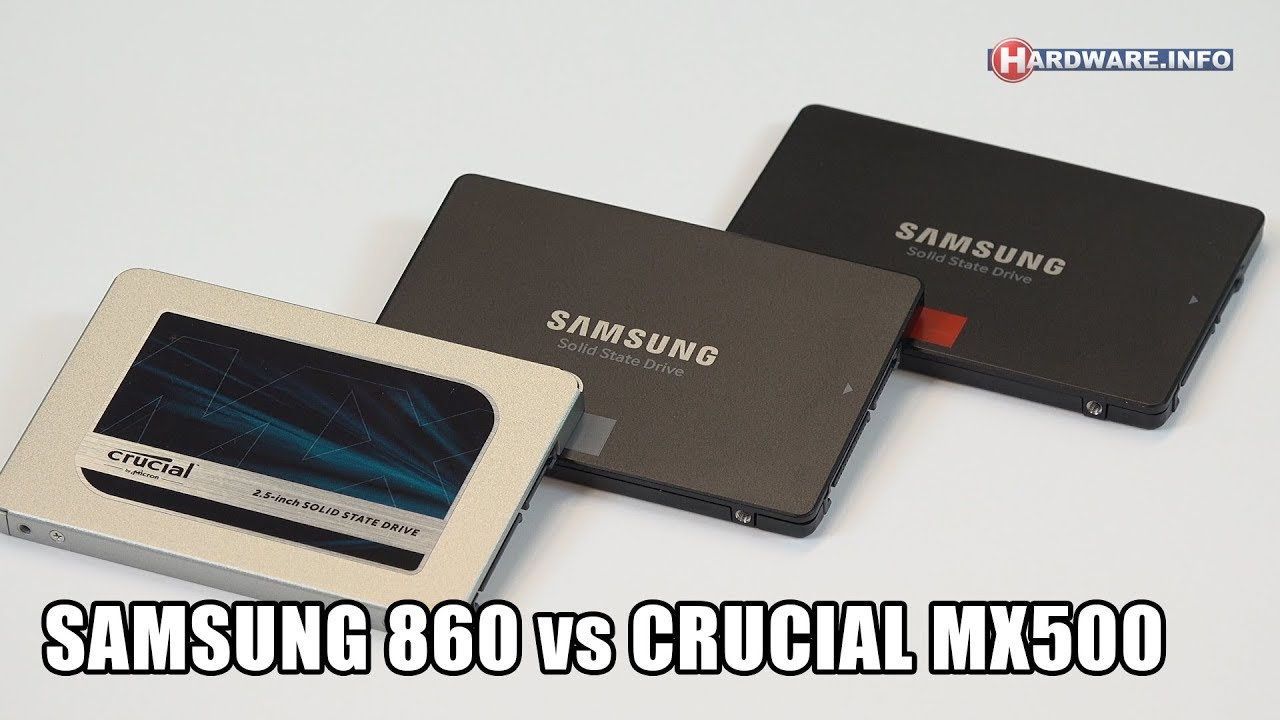 Samsung 860 Evo & Pro vs Crucial MX500 SSD video review - Hardware Info