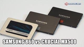 Samsung 860 Evo & Pro vs Crucial MX500 SSD review - Hardware.Info TV (4K UHD)