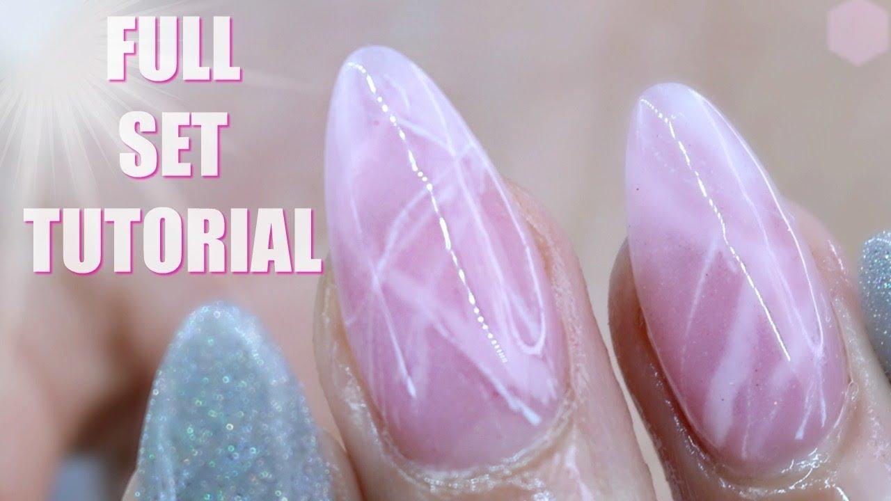 Kiara Sky Nail Art Rose Quartz Nail Design Youtube