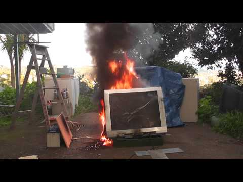 Prepare and blow up the old CRT TV