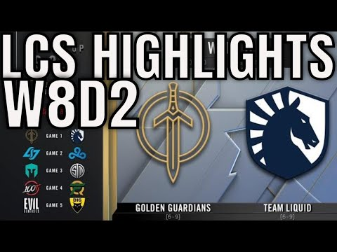 LCS Highlights ALL GAMES Week 8 Day 2 Spring 2020 League of Legends Championship Series