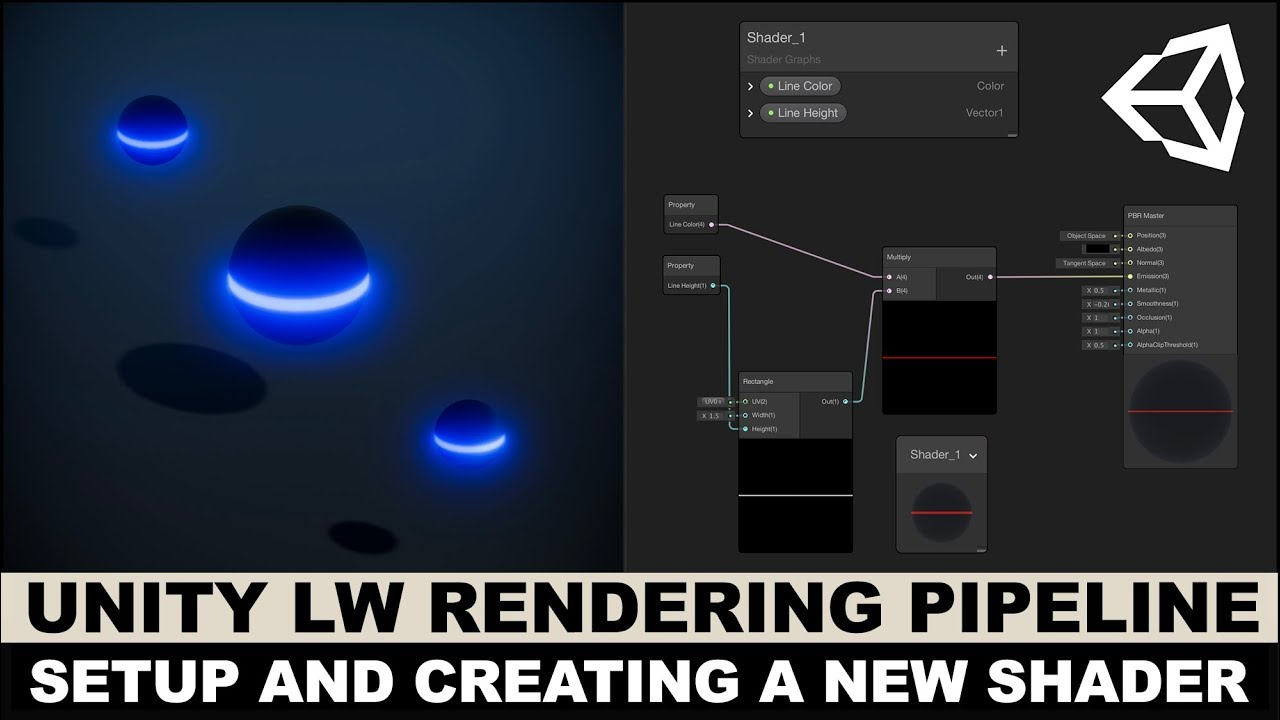 Unity3d Graphics with Unity3d LWRP and creating a shader with Shader Graph
