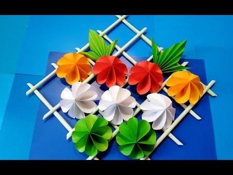 ПОДАРОК СВОИМИ РУКАМИ/украшение на стену декоративный мастер-класс Цветы бумаги/DIY