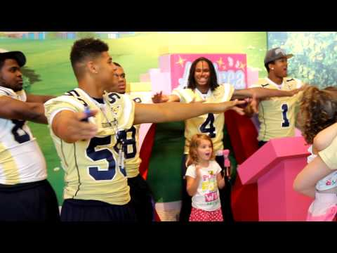 GA Tech Football Players show off at LEGOLAND Discovery Center