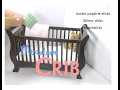 DIY Baby Crib (Sleigh) Dollhouse Furniture  Miniature Tutorial
