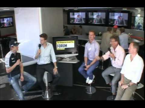 Hulkenberg says 'shit' on British TV