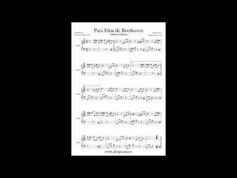 Para Elisa Partitura para piano Partituras de música clásica Per Elise Partituras