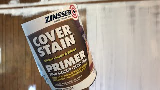 Painting Paneling With Zinsser Primer - Before And After