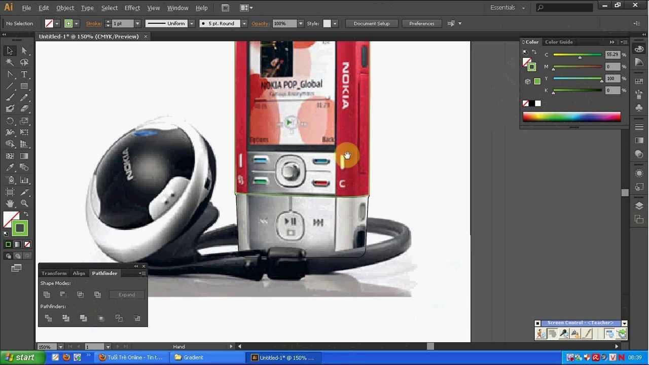 Học Adobe Illustrator CS6 – Vẽ chiếc điện thoại