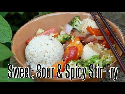 Sweet, Sour & Spicy Stir-Fry | Vegan, Gluten-Free, Oil-Free