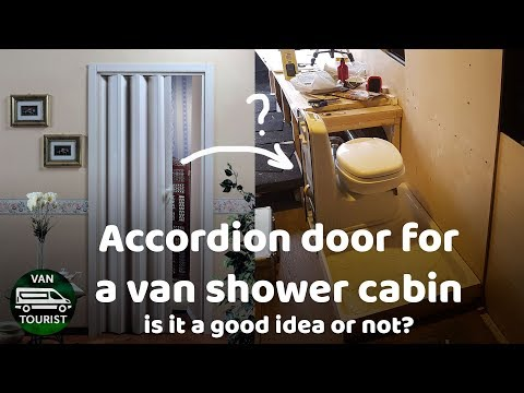 Accordion door for a van conversion shower cabin. Is that a good idea or not?
