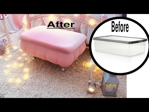 ✅DIY Decorative Storage Ottoman.Most Awesome Repurposed ROOM  Decor Idea Ever.