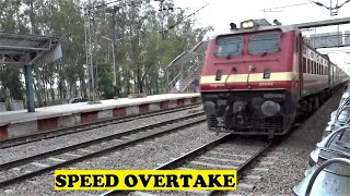 New WAP4 25003 Dibrugarh Rajdhani Honks Overtakes