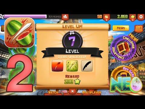 Fruit Ninja: Gameplay Walkthrough Part 2 - Reach Level 8! (iOS, Android)