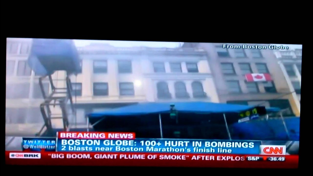 Boston marathon explosion live