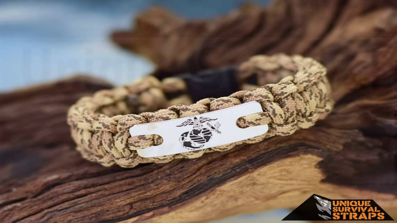 Marine Corps Paracord Survival Bracelet With Charm By Bostonred2010
