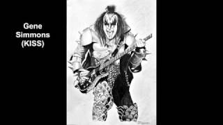 Gene Simmons (KISS) Timelapse  pencil drawing by mito
