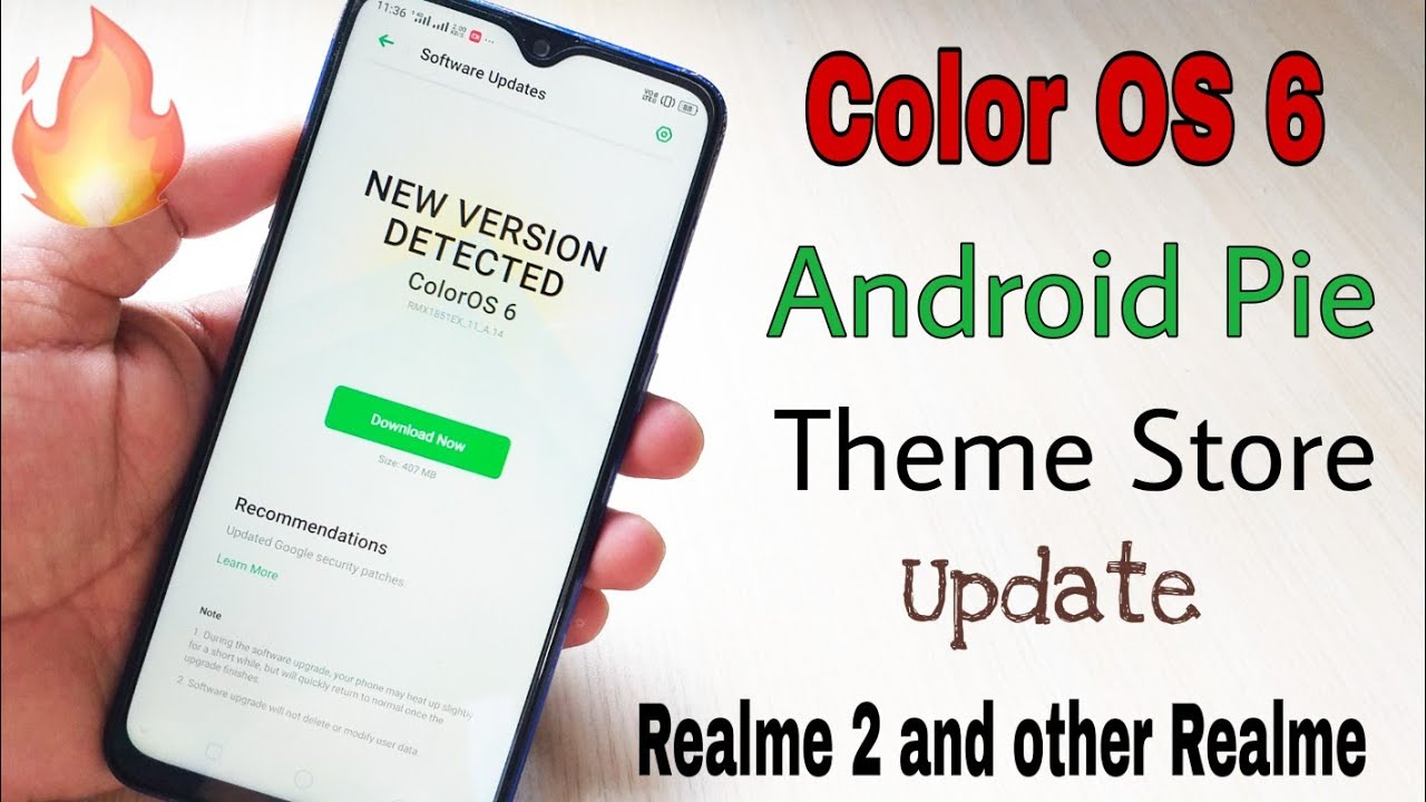 Color OS update with android pie with theme store in Realme 2