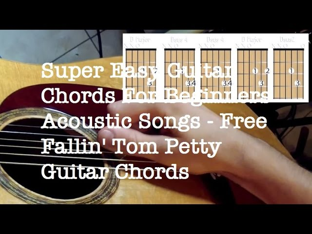 Super Easy Guitar Chords For Beginners Acoustic Songs Free Fallin