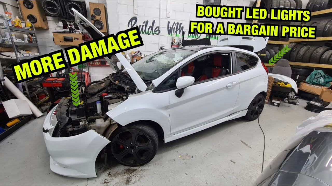 Rebuilding a (STOLEN) SALVAGE Ford Fiesta ST (FOUND MORE DAMAGE) COPART UK