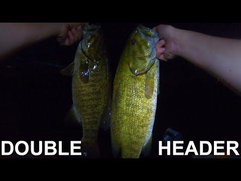 night-fishing-giant-smallmouth-bass---vancouver-island,-bc