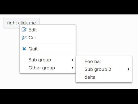 Custom context menu in JS | JavaScript Tutorials | Web Development Tutorials
