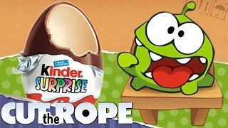 Новые Ам Ням шоколадные яйца. Киндер сюрприз. Om Nom. Kinder Surprise. Cut the Rope.