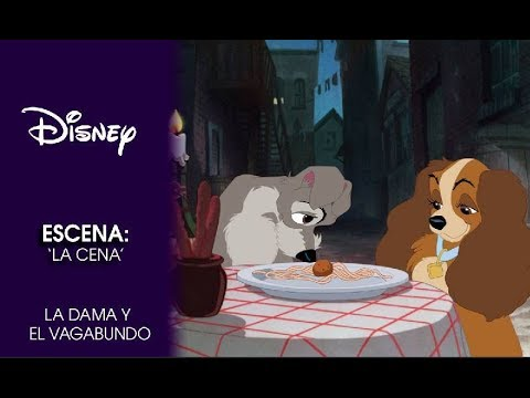 La Dama Y El Vagabundo Escena La Cena Disney Oficial Youtube