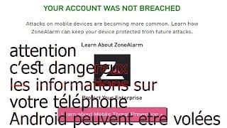 c'est trés dangereux : un nouveau Malware qui attaque votre téléphone