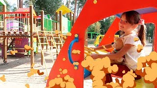 Skip to my Lou - Nursery Rhymes funny song for kids   Lulu my darling   Outdoor playground