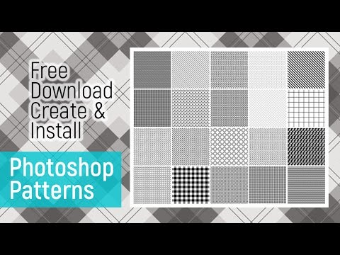 How To Download & Install | Create Pattern | Photoshop Tutorial