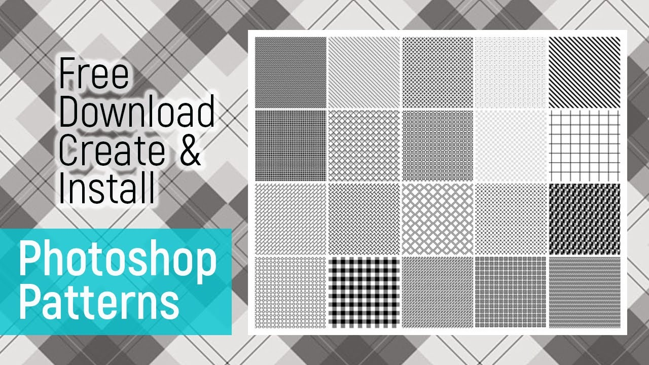 how to download install create pattern photoshop tutorial