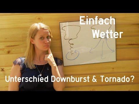 Was ist ein Downburst und was ist der Unterschied zum Tornado?