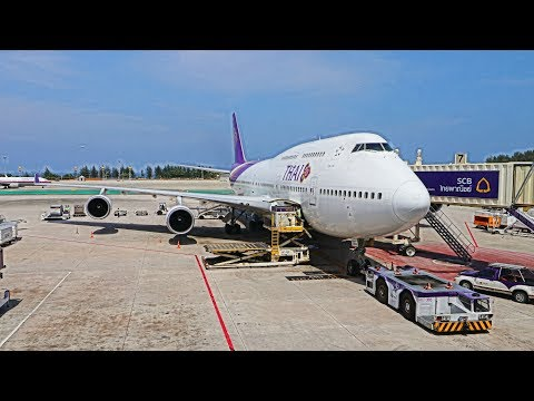 Thai Airways 747-400 Business Class Review | Queen of the Skies Phuket to Bangkok