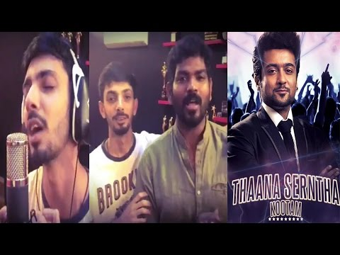 Anirudh Surprise Gift For Suriya Fans By Releasing Thaana Serntha Koottam Single Track | Live Video