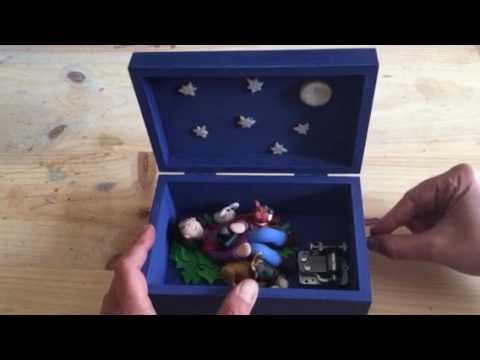 Beauty and the beast personalized music box.