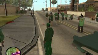 GTA San Andreas - Gang territories in whole map with big gang