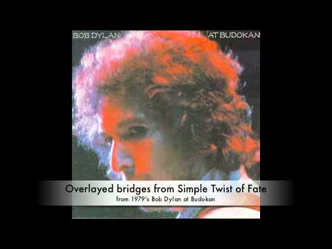 Overlayed bridges of Simple Twist of Fate from 1979's Bob Dylan Live at Budokan