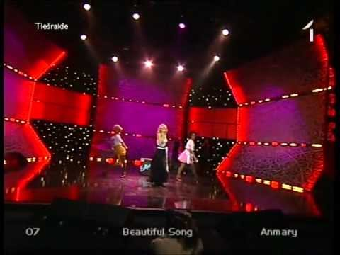 Eurovision 2012 Latvia - Anmary - Beautiful Song (HQ)