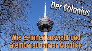 Köln: Der Colonius - Der Fernsehturm von innen und der Ausblick von der Spitze aus