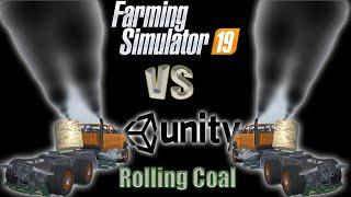 Farming simulator 19 - 6x6 4500 Rolling Coal Dynamic Smoke!