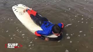 Clases de surf en Bastiagueiro para niños con Aftersurf