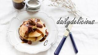 Cottage cheese Pancakes with Brown sugar Whisky Sauce