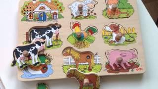 Музыкальные Пазлы для Малышей GoKi  - Животные - Развивающие Деревянные Игрушки для Детей