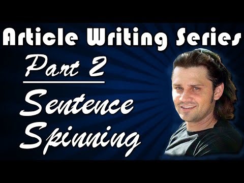 Article Creation Series: Part 2 - Sentence Spinning