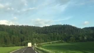 Пейзажи Словакии! Дорога. Путешествие на автомобиле.