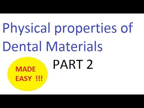 Physical properties of Dental materials : Part 2