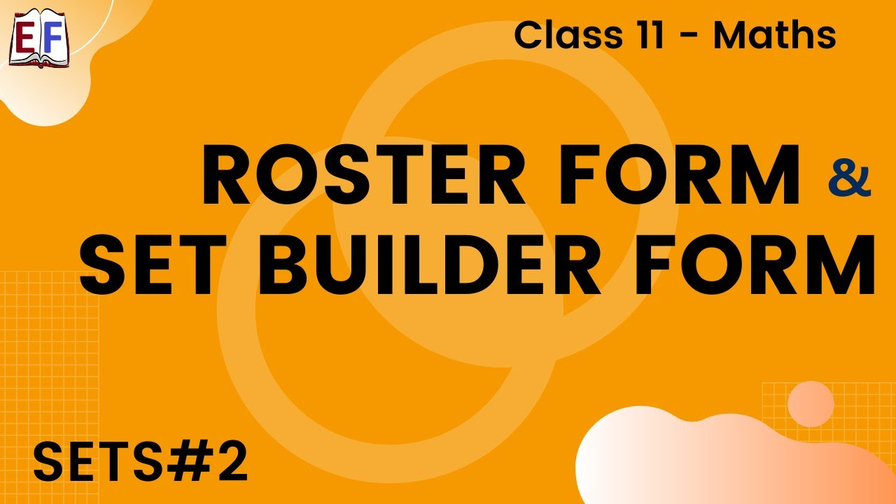 Maths Sets Part 2 (Roster form and set builder form) Mathematics ...